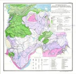 Тектоническая карта девонско-нижнекаменноугольного мегакомплекса Сибирской платформы