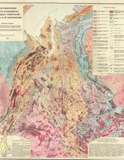 Тектоническая карта фундамента Западно-Сибирской платформы и её обрамления