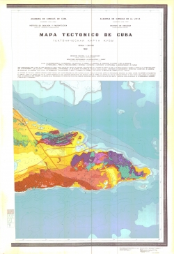 Тектоническая карта Кубы / Mapa tectonico de Cuba
