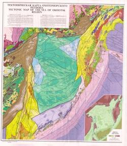 Тектоническая карта Охотоморского региона