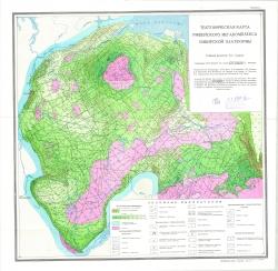 Тектоническая карта рифейского мегакомплекса Сибирской платформы