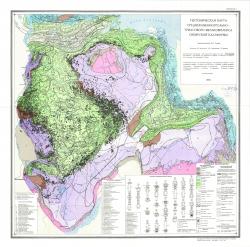 Тектоническая карта среднекаменноуольно-триасового мегакомплекса Сибирской платформы