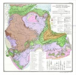 Тектоническая карта юрско-мелового мегакомплекса Сибирской платформы