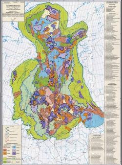Тектоническая карта юрского структурного яруса Западно-Сибирской нефтегазоносной провинции