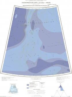 U-53-56 (хр. Ломоносова). Геологическая карта Российской Федерации. Океанская серия. Литологическая карта поверхности морского дна