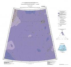 U-57,58,59,60 (поднятие Менделеева). Геологическая карта РФ. Третье поколение. Литологическая карта поверхности дна акватории. Океанская серия