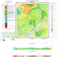 Учебная геологическая карта №11. Старый комплект