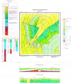 Учебная геологическая карта №12. Старый комплект