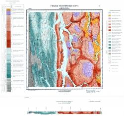 Учебная геологическая карта №13. Старый комплект