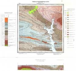 Учебная геологическая карта №16 (M-58-47-Б (Усть-Погор)) (старый комплект)