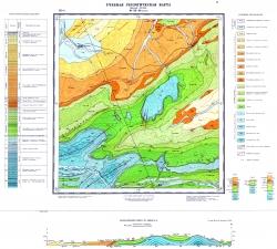 Учебная геологическая карта №17. Старый комплект