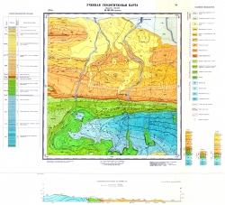 Учебная геологическая карта №18. Старый комплект