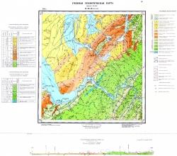 Учебная геологическая карта №19. Старый комплект