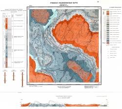 Учебная геологическая карта №20. Старый комплект