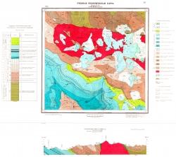 Учебная геологическая карта №22. Старый комплект