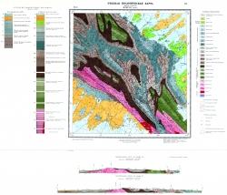 Учебная геологическая карта №23 (M-58-VII (Лукино)) (старый комплект)