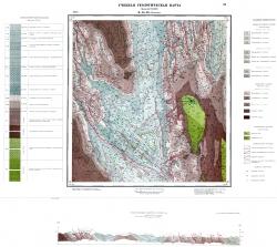 Учебная геологическая карта №24. Старый комплект