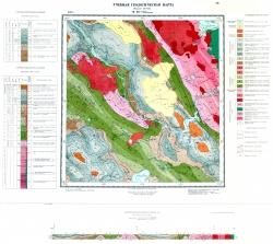 Учебная геологическая карта №26 (M-59-VIII (Жарык)) (старый комплект)