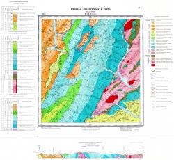 Учебная геологическая карта №27. Старый комплект