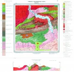 Учебная геологическая карта №28 (M-58-8-Г-а) (старый комплект)