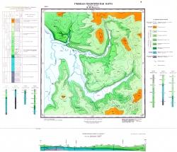 Учебная геологическая карта №3. Старый комплект
