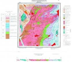 Учебная геологическая карта №30. Старый комплект