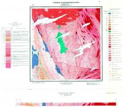 Учебная геологическая карта №31 (M-60-55-Б-в (Петровка)) (старый комплект)
