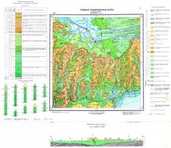 Учебная геологическая карта №6. Старый комплект